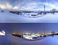 Olympic Park/Village - Munich - Panorama - Night/Day