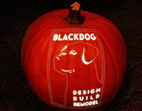 Blackdog - Glowing Jack-O-Lantern Blackdog Logo