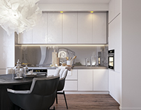 White apartment in Kiev