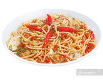 Chụp ảnh mỳ Ý