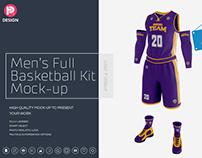 Men's Full Basketball Kit Wishbone Collar Jersey Mock u