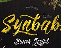Syabab Brush Script Font Free Download