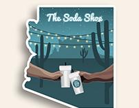 Soda Shop Sticker