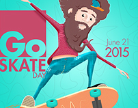 Go skate poster
