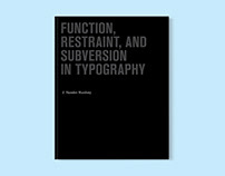 Function, Restraint & Subversion in Typography book