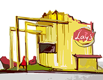 Stand for Lay's in shopping center (GxGroup)