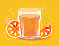 Juice illustration (Adobe illustrator)