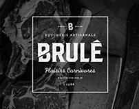 BRULÉ BOUCHERIE ARTISANALE - BRANDING