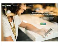 Invanto - Home Page Re-Design