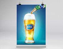 Branded bottles of EFES - retouching