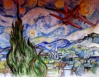 Vincent Van Gogh / my own interpretation,two years ago