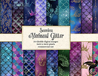 FREE PAPER PACK Mermaid Glitter