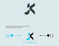 Fitness brand logo design
