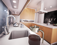 Obey: Kitchen Visualisation. 3Ds Max & Vray