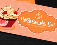 Business Card - Delícias da Ka!