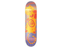 Maneki Neko Custom Skateboard