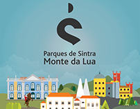 Sintra Palaces digital flat illustration