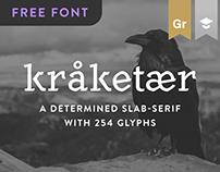Kråketær – Free typeface