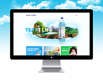 Narsiix Water Bottle Website Concept