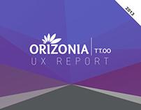 UX Report - Orizonia Touroperators