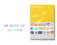 36 Days of 3D Type - Part.1