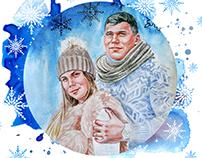 "Illustration, portrait ""Christmas fairy tale"""