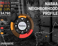 Infographics for UN Habitat Lebanon