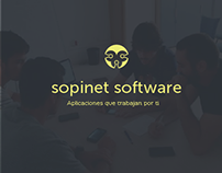 Rediseño Logotipo Sopinet Software