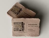Modern Farm Girls Podcast Logo Design