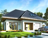 Projekt domu Odwrócony - front