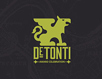 DeTonti Award Celebration Identity Design