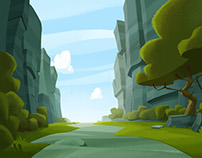 Angry Birds Toons backgrounds