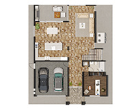 FLOOR PLAN RENDERING FOR HOME BUILDERS FLORIDA