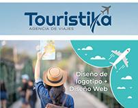 Diseño de logotipo + Página web | Touristika