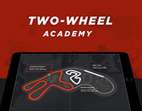 Two-wheel — UI/UX design for motorsport academy website