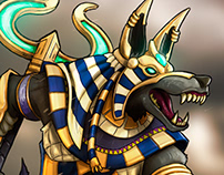 "Anubis - Boardgame & cards illustration. ""Blood&Steel""."
