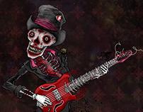 Skeleton guitarist