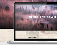 "Landing page for transfer to Finland ""Di-travel"""