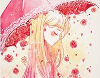 Watercolor Flower Girls