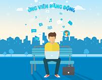 Landing page Ứng viên năng động / Freelance