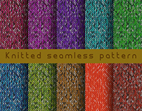 Knitted seamless pattern in vector