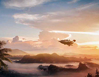 Matte Painting - (Nature painting zeppelin - 2018)
