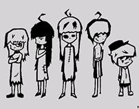 Dam, Mraon, Dnilb, Gelon, and Loof