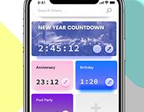 Countdown App Design