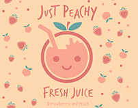 Just Peachy Fresh Juice Branding