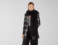 Tricot scarf for AW18 for Bershka Collection
