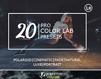 20 Pro color lab lightroom presets