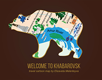 Travel Cartoon Map of Khabarovsk
