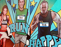 Brooks Run Happy Photowall