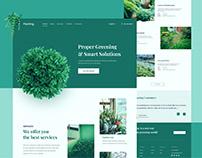 Gardening & Landscaping Website landing page